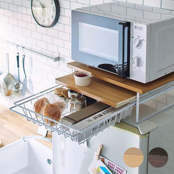 キッチン スライドテーブル 引き出し付